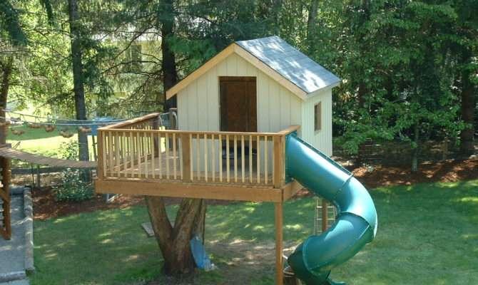 Backyard Tree House Project