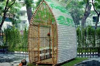 Bamboo Plastic Bottles Make Eco Friendly Greenhouse