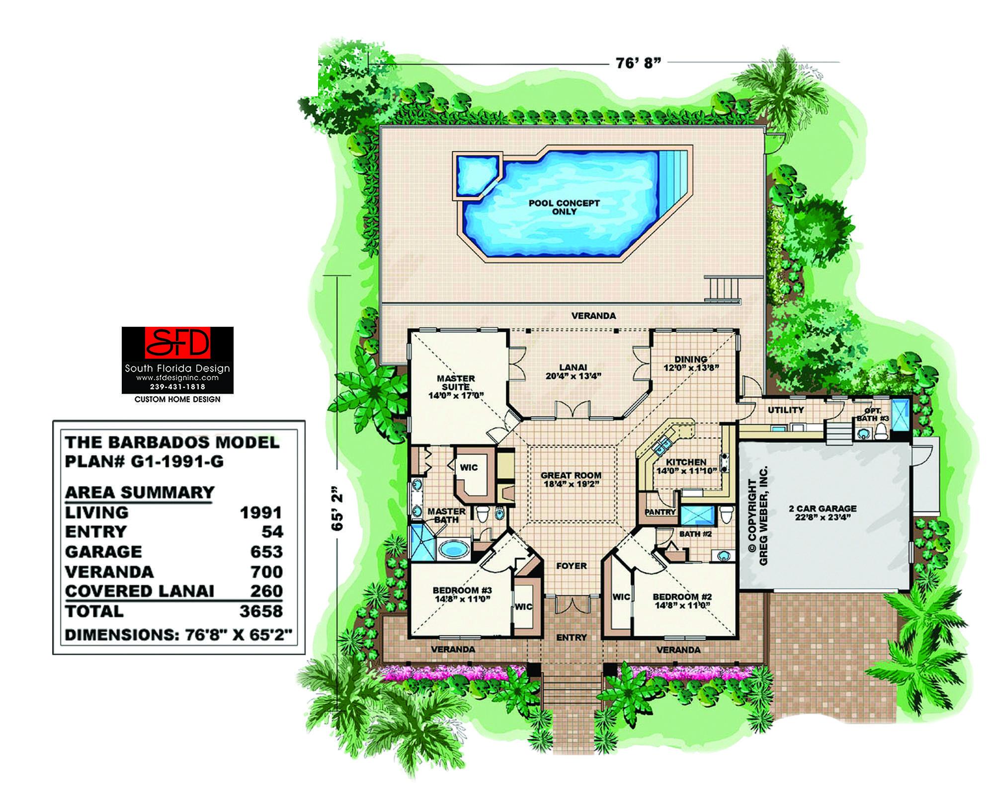 Barbados Coastal House Plan South Florida Design