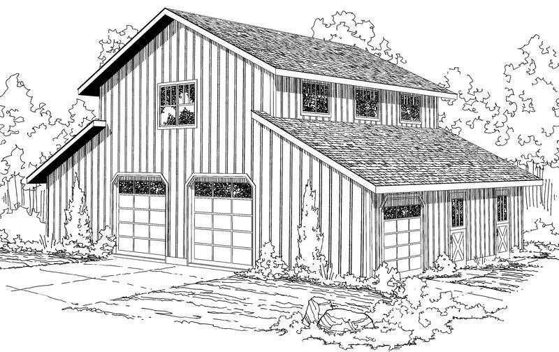 Barn Garage Living Quarters Floor Plans