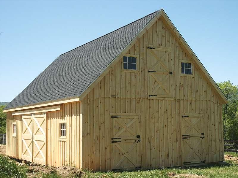 Barn Plans Pole Loft Car Garage Building Homes