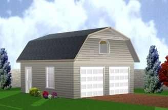 Barn Style Double Garage Loft Building Plan