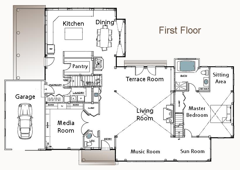 ordinary barn floor plans #5: Barn Style Home Floor Plan Litchfield Bedroom Bath Architecture