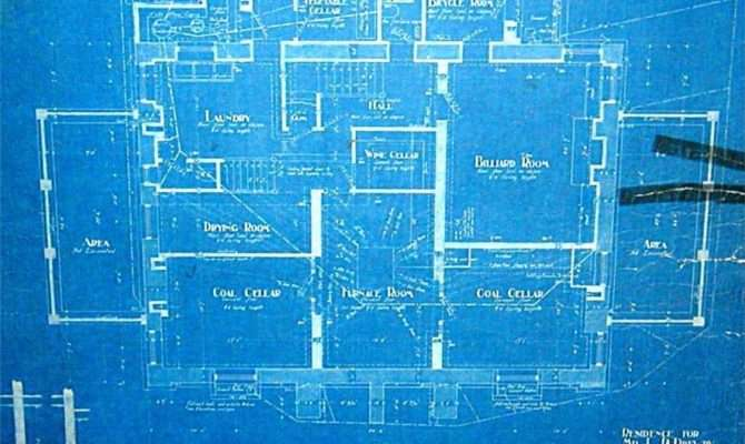 Basement Blueprint Showing Original Rooms