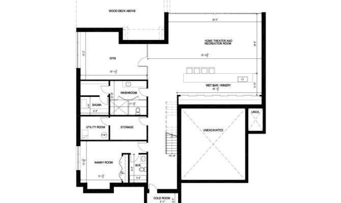 Basement Floor Plan Contemporary House Toronto Canada