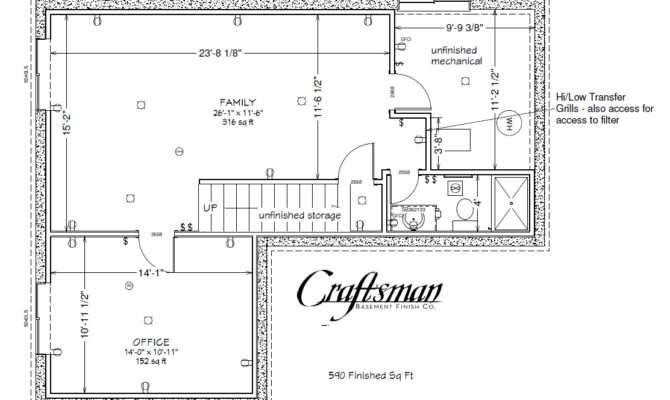 Basement Floor Plan Craftsman Finish Colorado