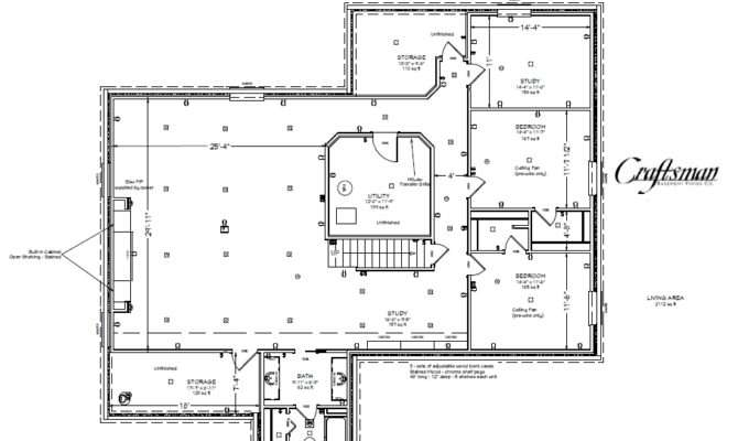 Basement Floor Plan Craftsman Finish