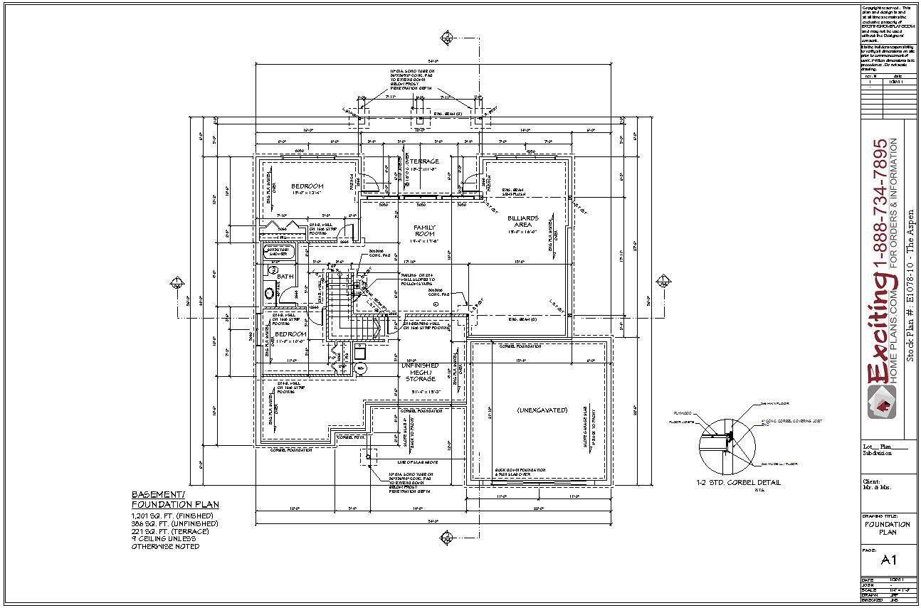 Basement Foundation Plans Exciting Home