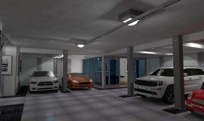 Basement Garage Poker Room Apartment Ideas