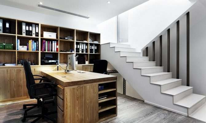 Basement Home Office Design Decorating Tips