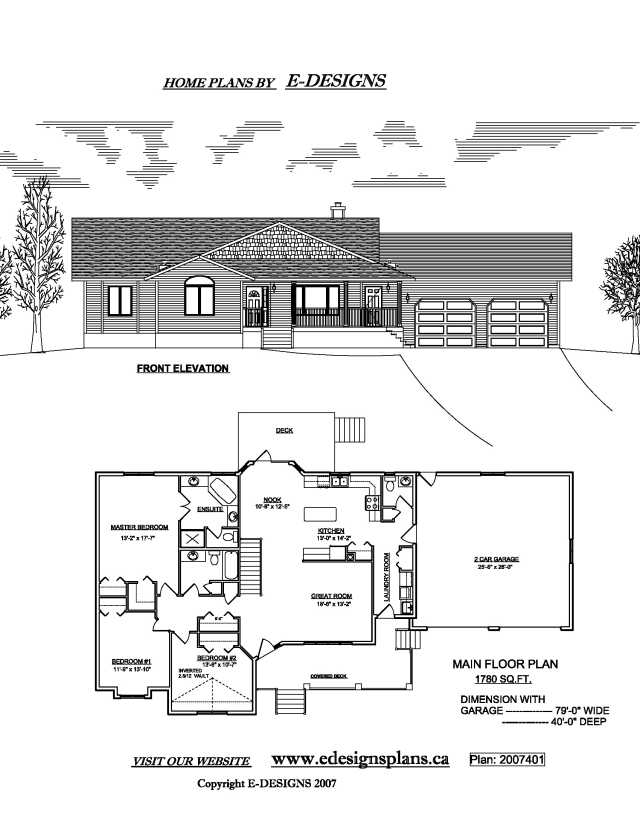 Basement House Plans Walkout Bungalow