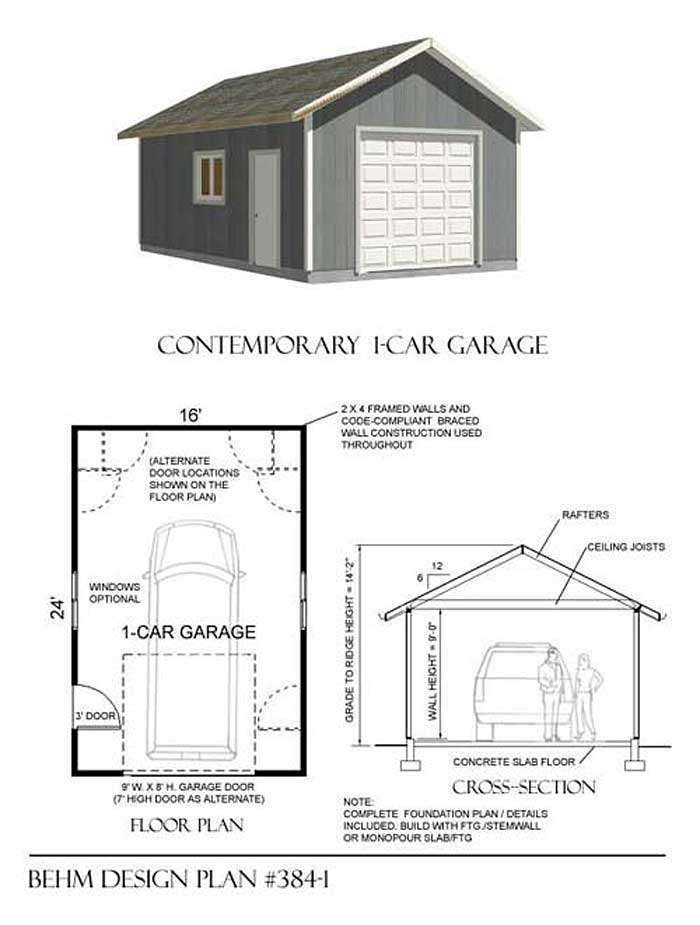 Basic Car Garage Plans Behm