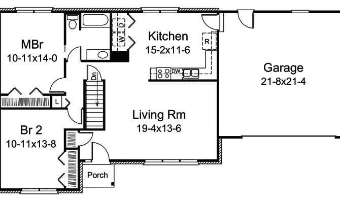 Basic House Plan Ranch First Floor