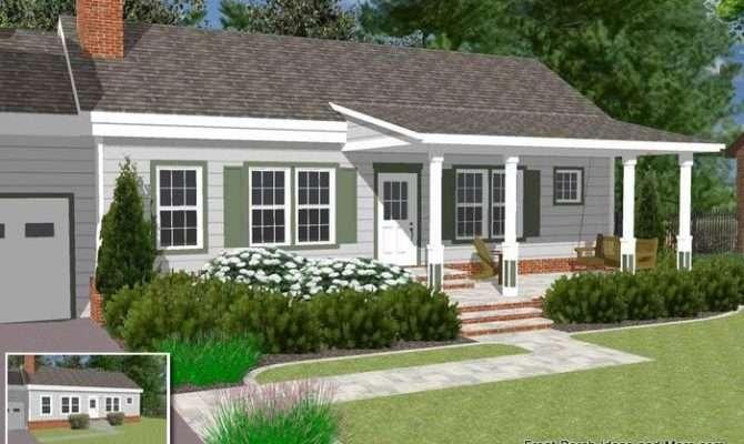 Basic Ranch Home Front Porch Ideas Pinterest