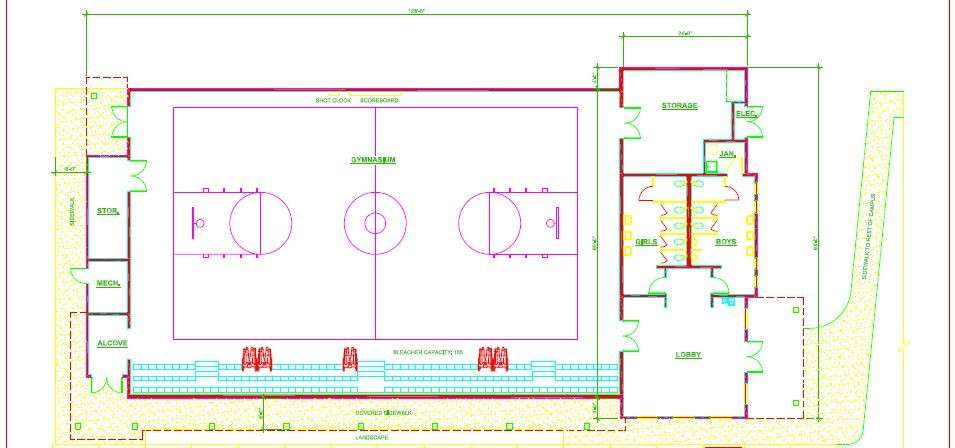 Basketball Gym Floor Plans Homes