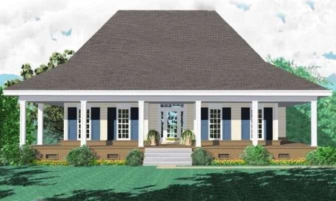Bath Southern Style House Plan Wrap Around Porch Plans