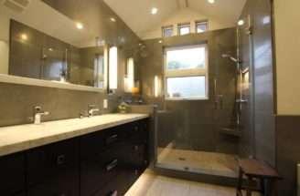 Bathroom Small Narrow Ideas Tub Shower Wainscoting