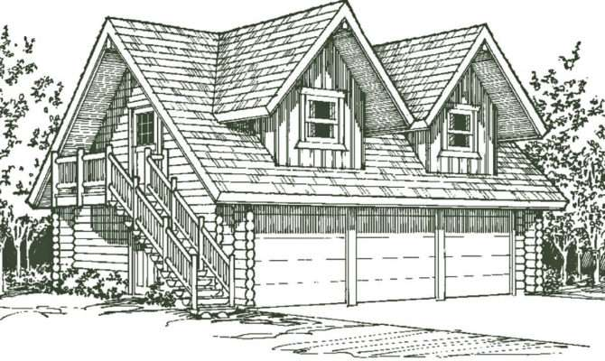 Bathrooms Car Garage Complete Log Package Plans Available