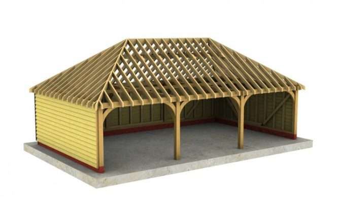 Bay Depth Garage Fully Hipped Roof