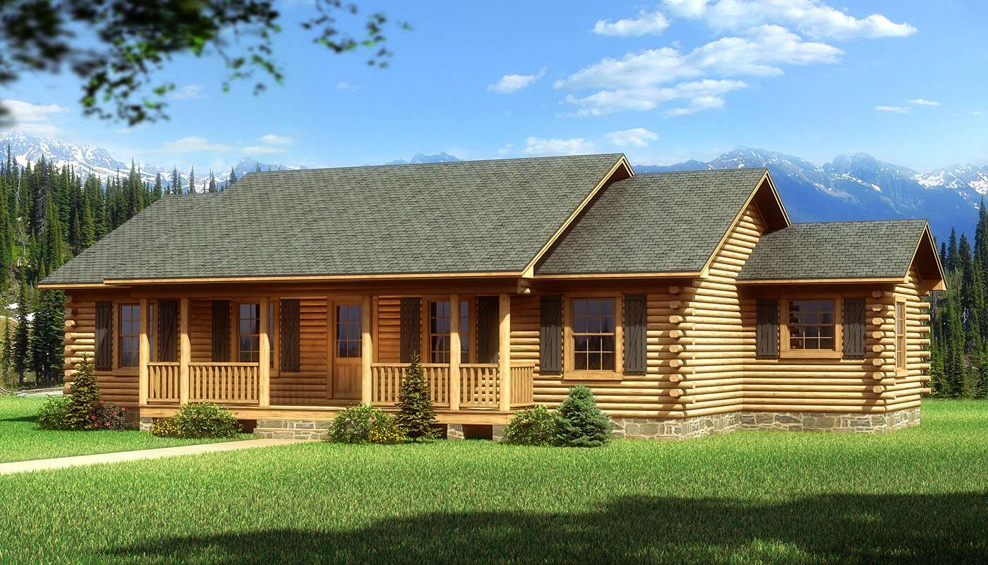 Bay Minette Log Cabin Floor Plan Southland Homes