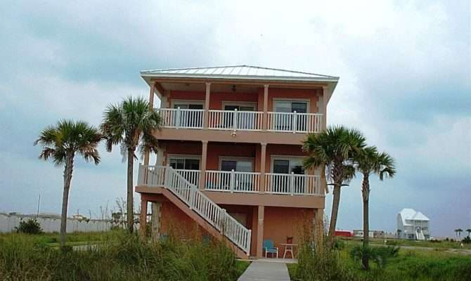 Beach Home Plans Pilings House