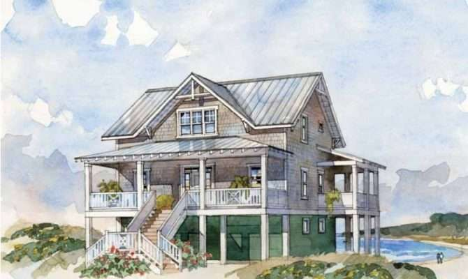 Beach House Floor Plans Stilts Low Country Plan