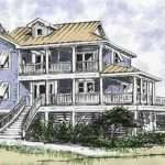 Beach House Pilings Plans Two Stories