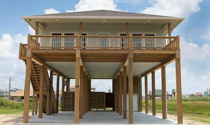 Beach House Plans Stilts Escortsea