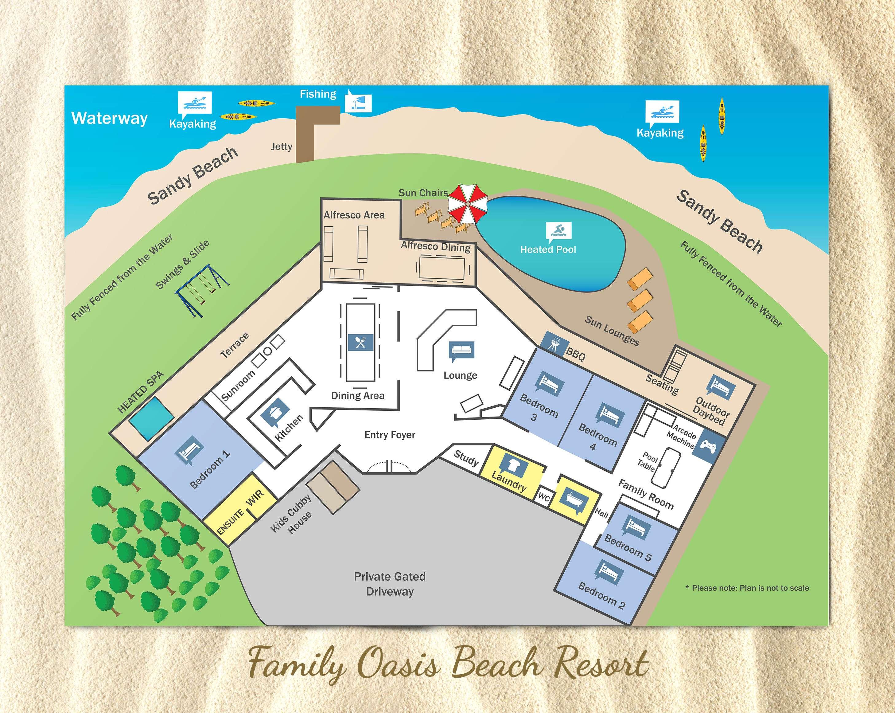 Beach Resort Floor Plan Oasis Holiday Homes