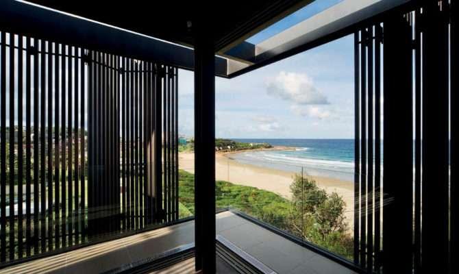 Beachside Home Designs Wooden Cladding Walls Courtyard