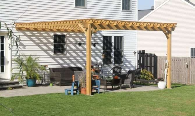 Beautiful Attached Pergola Connected House