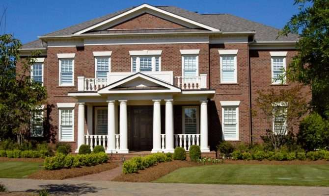 Beautiful Brick Homes Outdoor Design Landscaping Ideas Porches