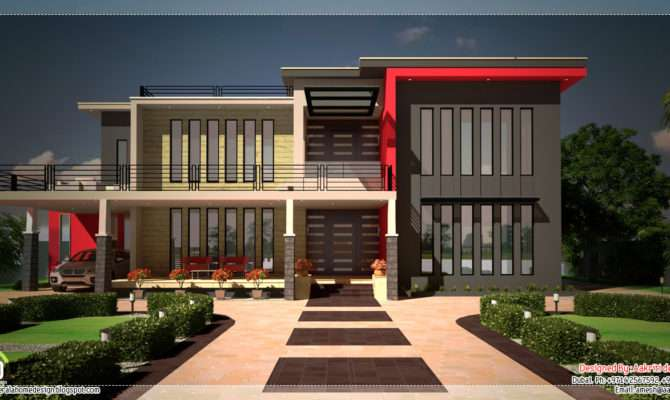 Beautiful Contemporary Luxury Villa Floor Plan