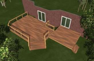 Beautiful Deck Plan Massive Two Level
