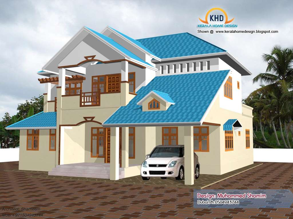 Beautiful Home Elevation Design Kerala
