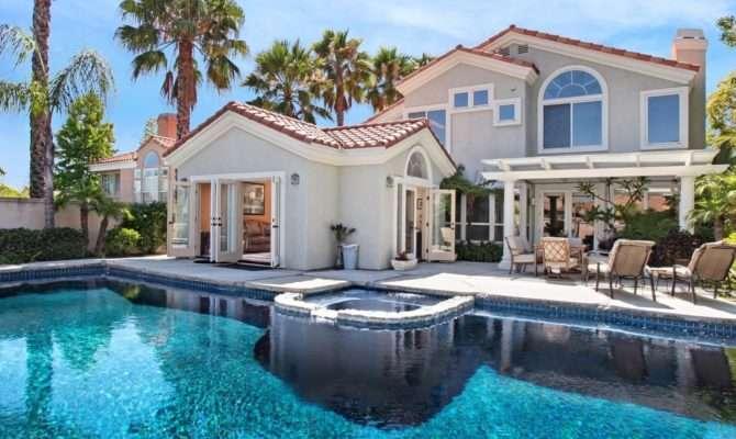 Beautiful House Swimming Pool Trees