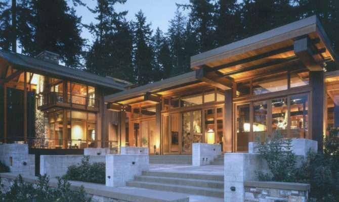 Beautiful House Wood Stone Steel Bainbridge Island
