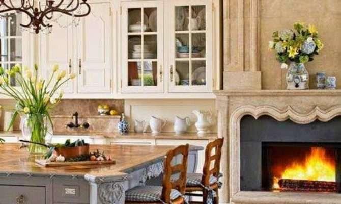 Beautiful Kitchen Fireplace Photos