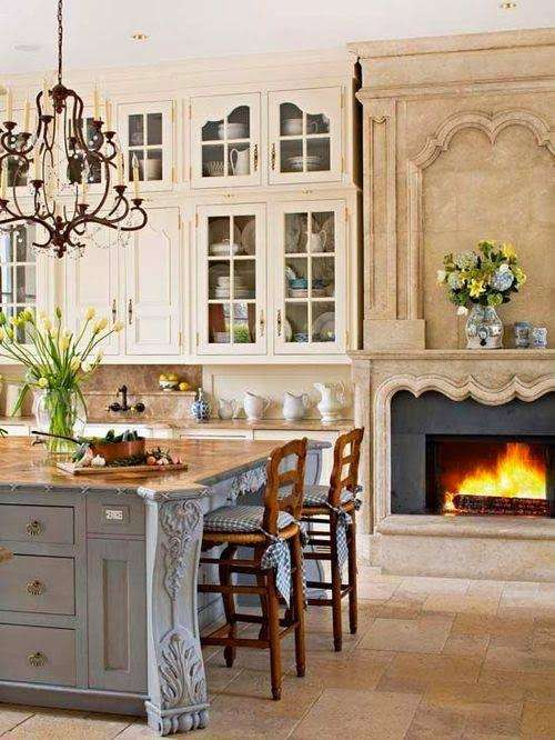 Beautiful Kitchen Fireplace Photos