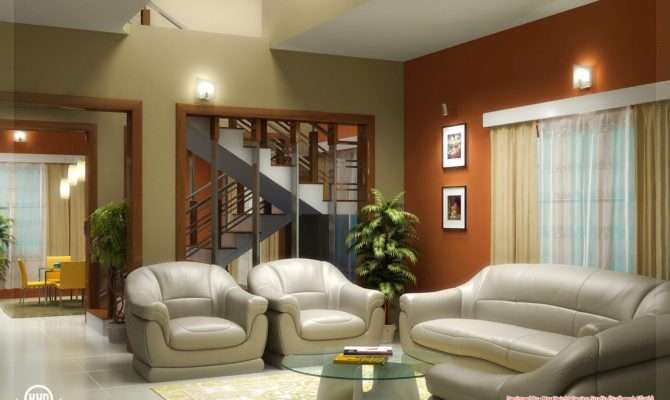 Beautiful Living Room Rendering Kerala Home Design Floor Plans