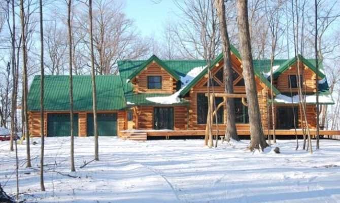 Beautiful Log Cabin Home Design Garden