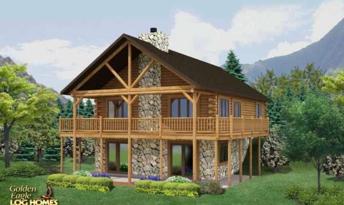 Beautiful Log Home Floor Plans Basement House