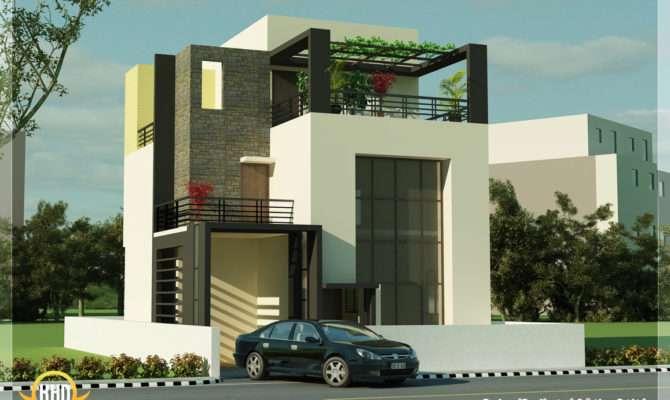 Beautiful Modern Contemporary House Renderings Kerala Home