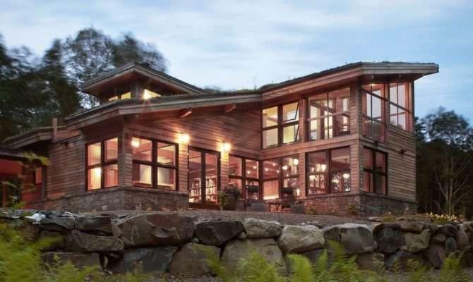 Beautiful Modern House Design Wood Siding Large