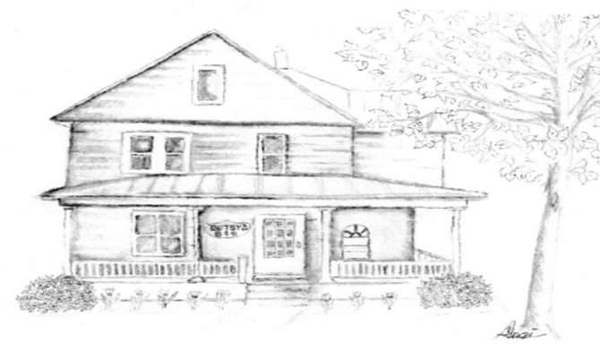 Beautiful Old House Drawing Pencil Drawings
