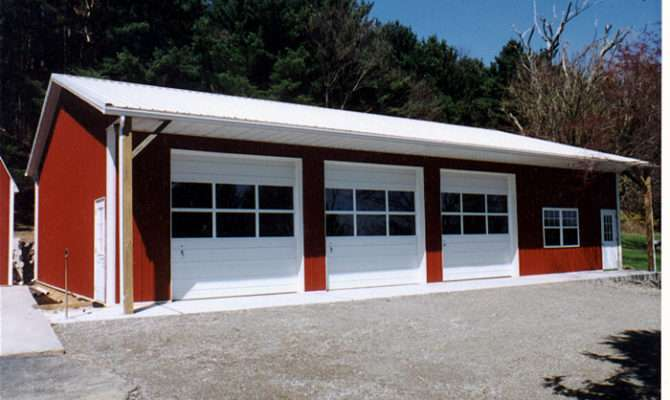 Beautiful Three Car Garage Kits Pole Barn
