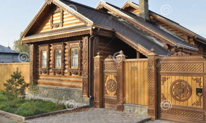 Beautiful Wooden House Carved Front