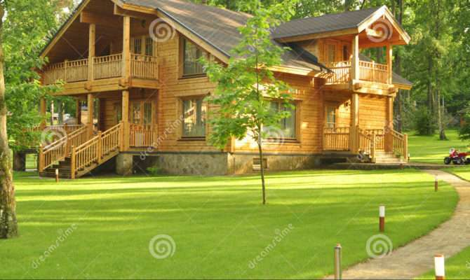 Beautiful Wooden House Forest