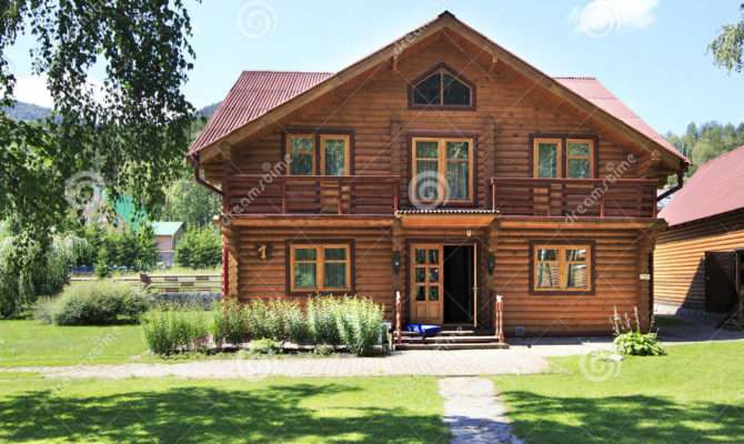 Beautiful Wooden House Mountains Altai