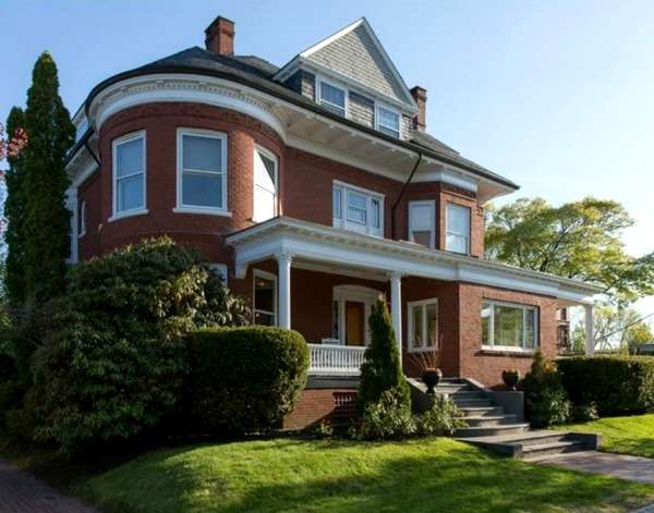 Beautifully Restored Red Brick Victorian Maine